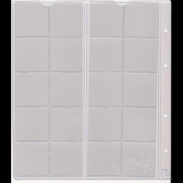 720, Møntblad med karton, 20 rum